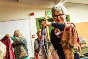 Rita Jukes with Textiles