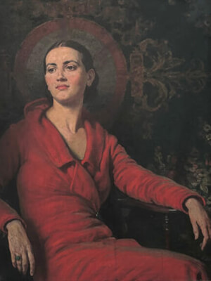 Lady in Red Velvet Alfred Egerton Cooper