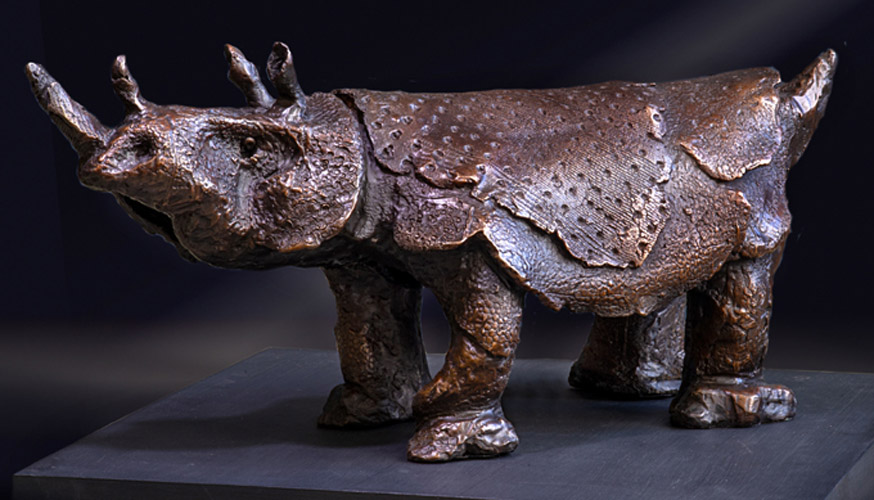 Rhinoceros in Bronze Carol Widenbar