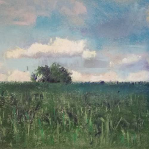 Gerald Rushton – Late summer eve – pastel