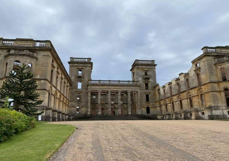 Sketching at Witley Court 28th July