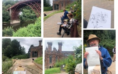 Wednesday 18th August sketching and painting in Ironbridge