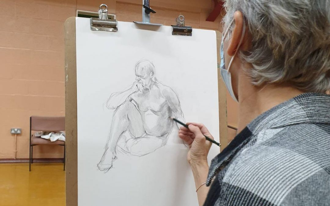 Life Drawing at Newhampton Arts Centre – Wednesday 1st September 2021